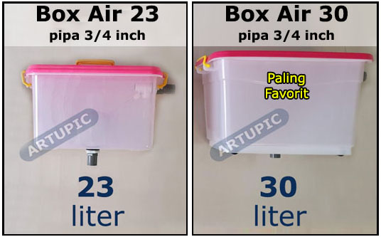Box Air 23 dan 30 liter